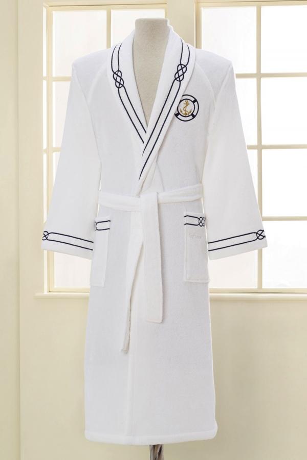 Soft Cotton Luxusní pánský župan MARINE MAN v dárkovém balení Bílá S