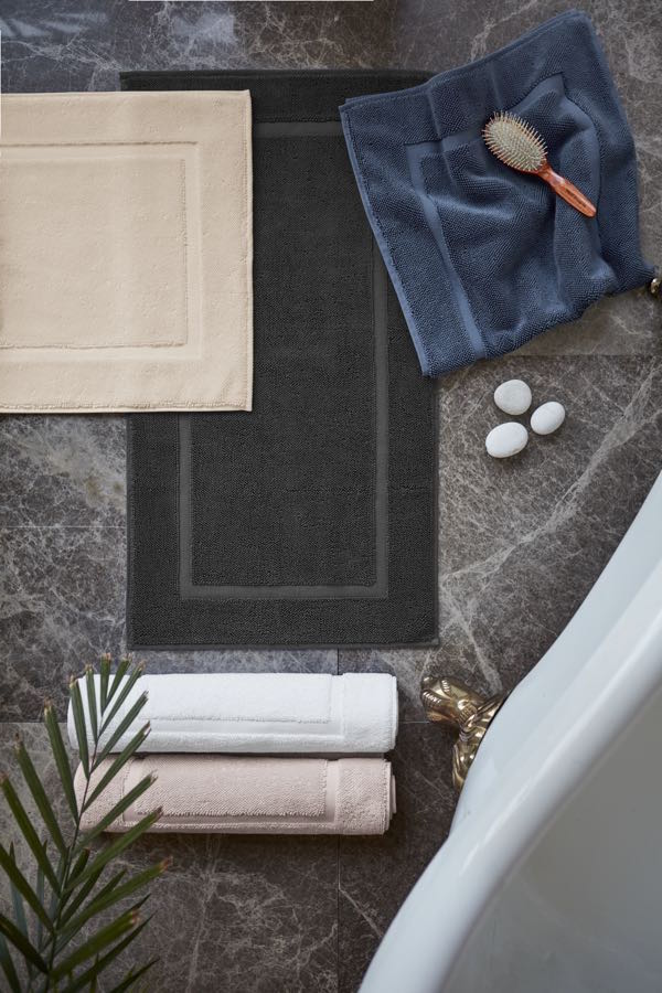 Soft Cotton Koupelnová předložka NODE 50x90 cm černá antracit