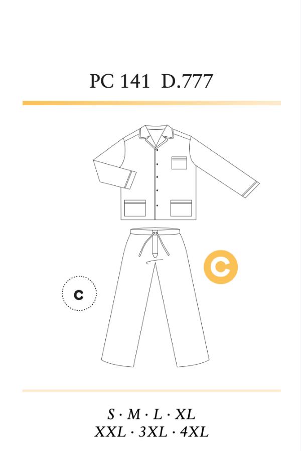 GUASCH Pánské pyžamo OCTAVIO Světle modrá XXL