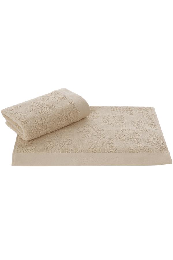 Soft Cotton Uterák LEAF 50 x 100 cm. Uterák LEAF s rozmermi 50 x 100 cm zo 100% česaná bavlna poskytuje záruku kvality materiálu, ktorá je ešte zosilnená antibakteriálnou ochranou. Béžová