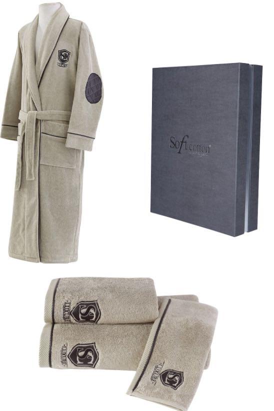Soft Cotton Dárkové balení županu, ručníku a osušky LUXURY