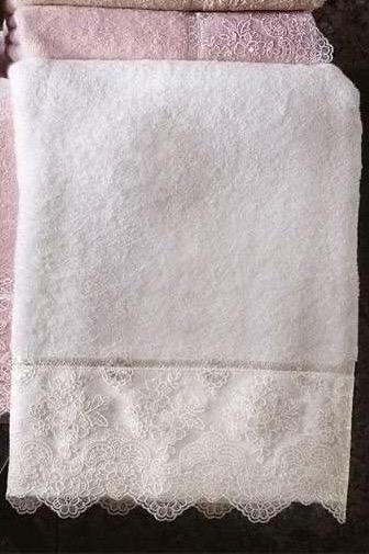Soft Cotton Osuška a ručník DIAMOND v dárkovém balení smetanová