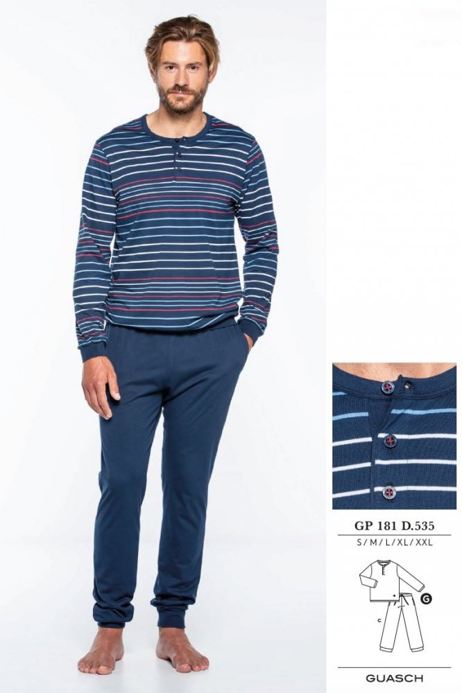 GUASCH Pánské pyžamo JORGE modrá S