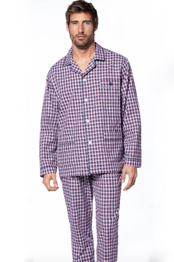 GUASCH Pánské pyžamo ISAAC bordo L