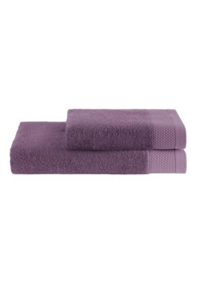 Soft Cotton Dárková sada ručník a osuška BAMBOO  fialová/šeřík