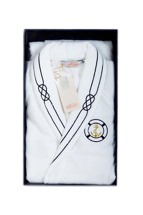 Soft Cotton Luxusní pánský župan MARINE MAN v dárkovém balení XL