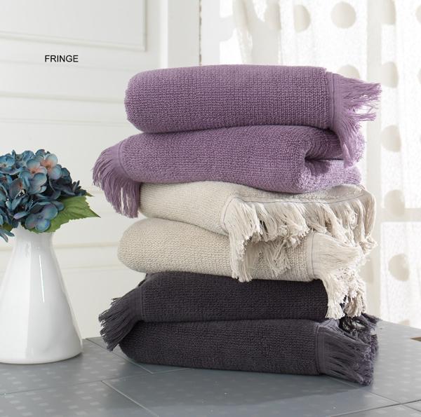 Soft Cotton Ručník FRINGE 50x100 cm světle béžová