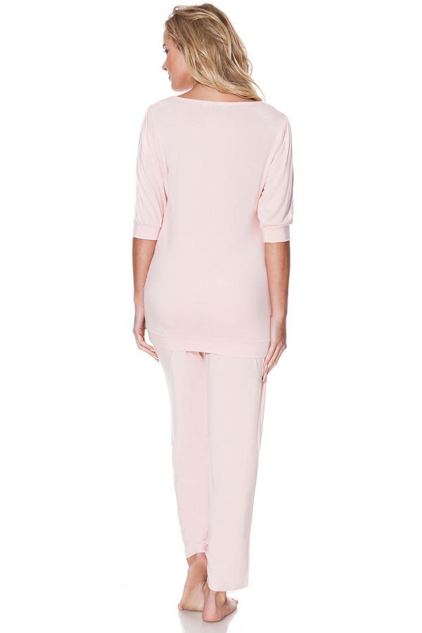 Luisa Moretti Dámské bambusové pyžamo SERENA krémová M