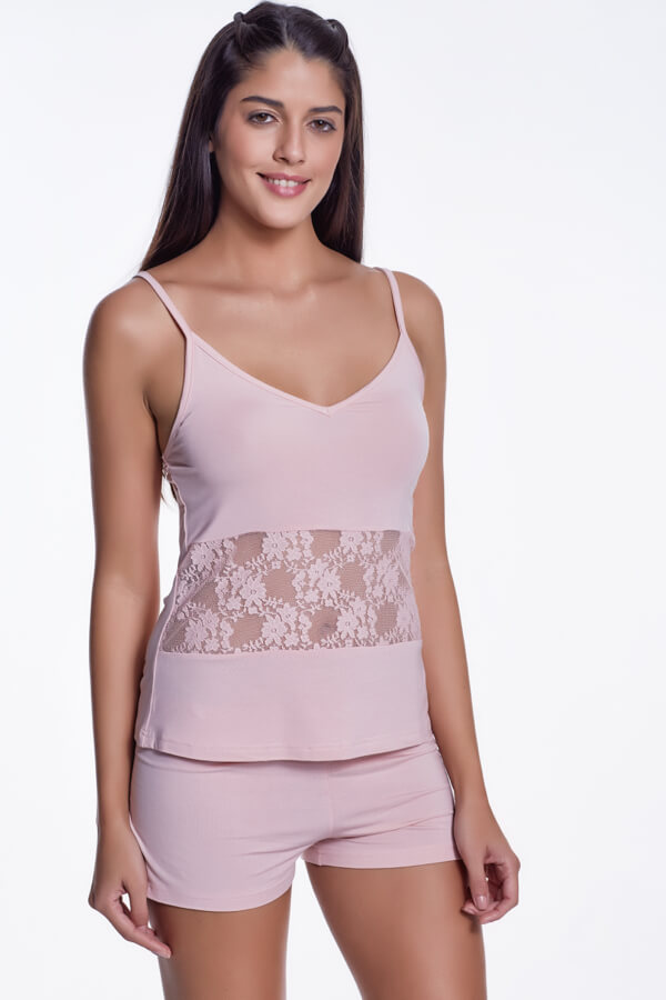 Luisa Moretti Dámské bambusové pyžamo SOFIA. Luxusné a sexy dvojdielne dámske pyžamo SOFIA v čiernej farbe rozprúdi atmosféru spálne každej sebavedomej dámy. Ružová L