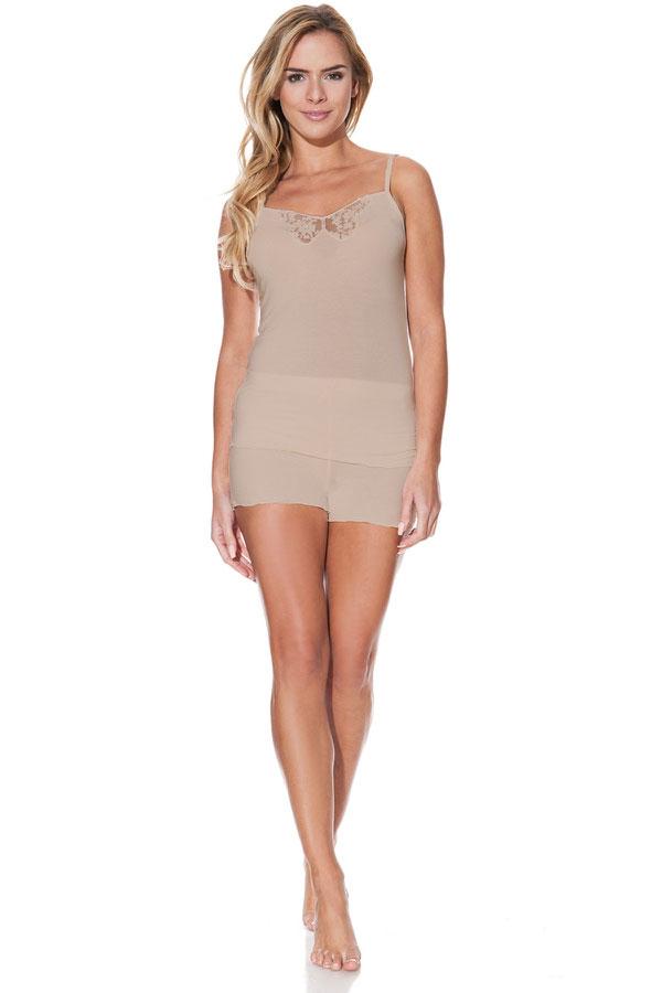 Luisa Moretti Dámske pyžamo VALENTINA. Luxusné dámske bambusové pyžamo VALENTINA zo 100% bambusového vlákna ocenia ženy s citlivou pokožkou a alergiami. Béžová XL