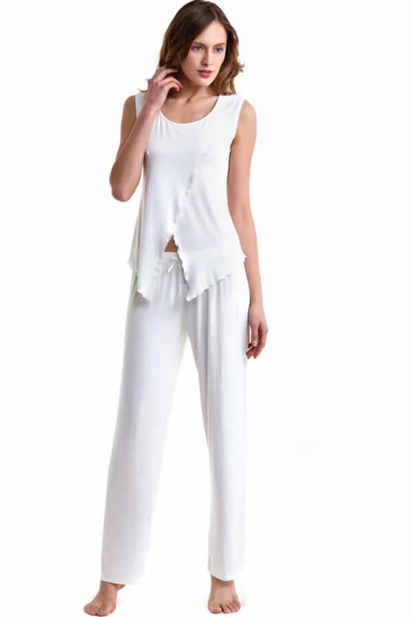 Luisa Moretti Dámské pyžamo bambusové VIVIEN krémová XL