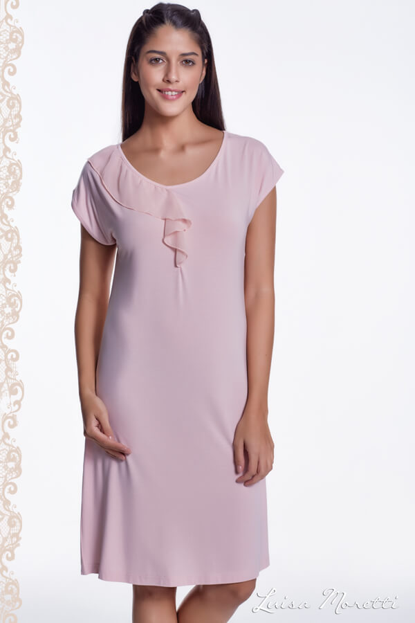 Luisa Moretti Dámská noční bambusová košilka CARMEN růžová L