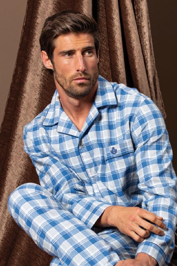 GUASCH Pánské pyžamo OCTAVIO světle modrá XL