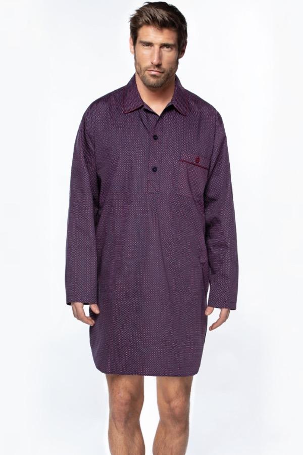 GUASCH Pánské pyžamo GERARDO Bordo M