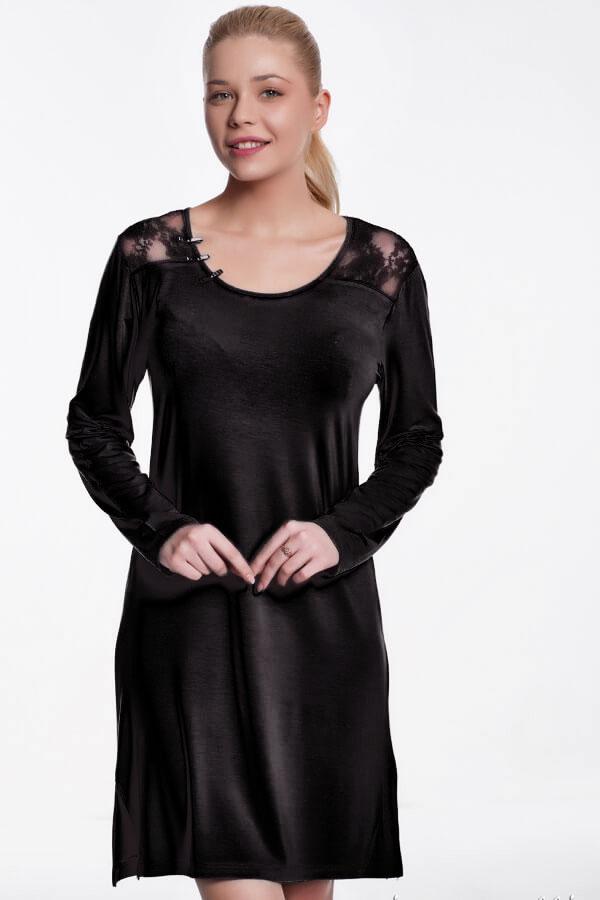 Luisa Moretti Dámská bambusová košilka ANNA černá S
