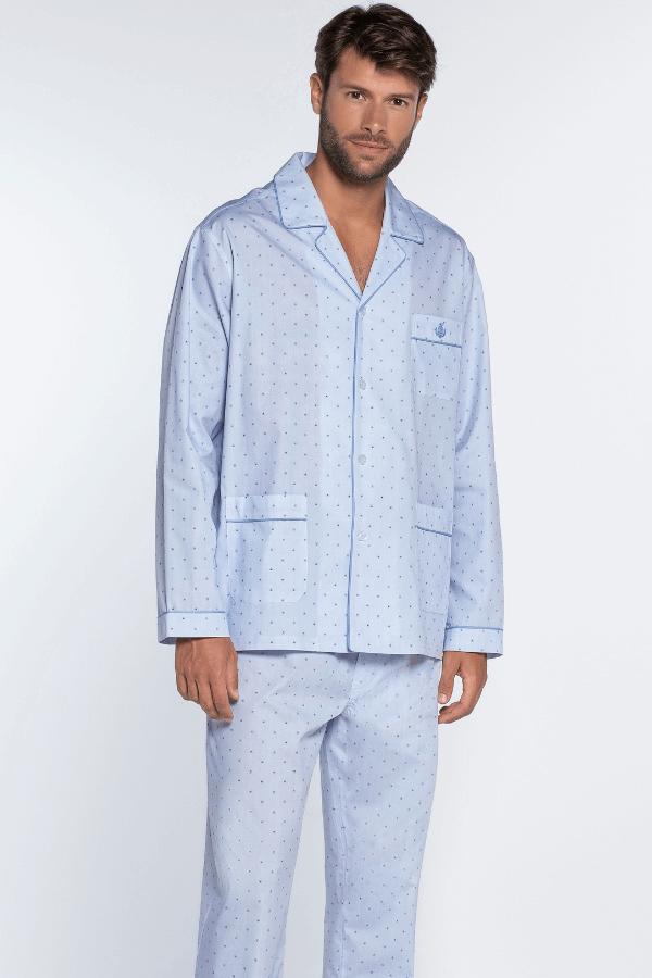 GUASCH Pánske pyžamo SERGIO Svetlo modrá XXL