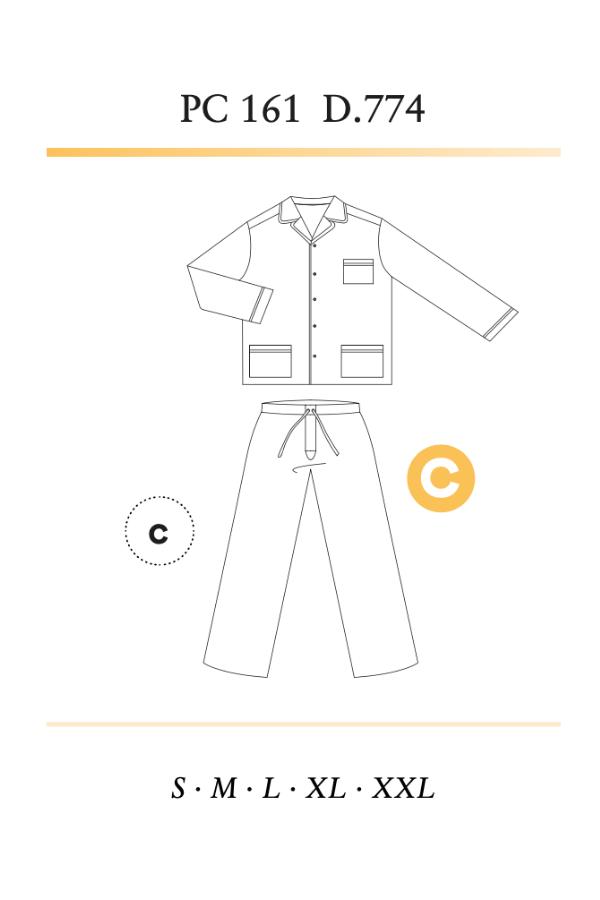 GUASCH Pánské pyžamo ALBERTO Světle modrá XL