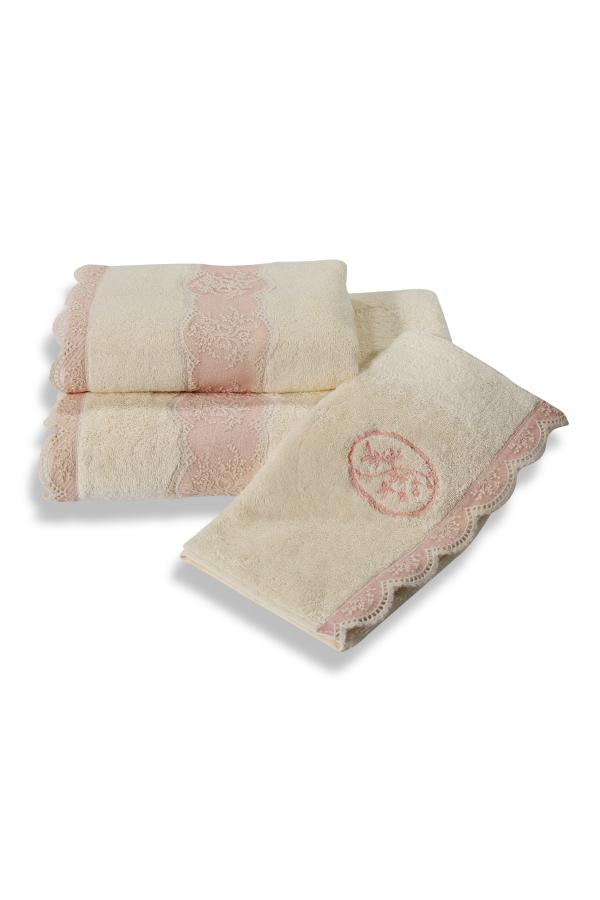 Soft Cotton Malý ručník BUKET 32x50 cm krémová