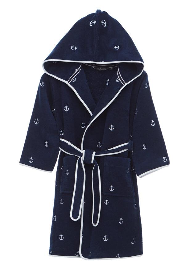 Soft Cotton Dětský župan MARINE BOY s kapucí v dárkovém balení tmavě modrá 128