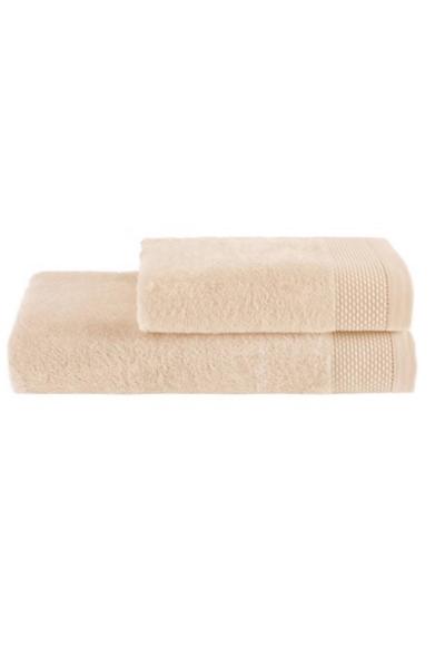 Soft Cotton Dárková sada ručník a osuška BAMBOO světle žlutá
