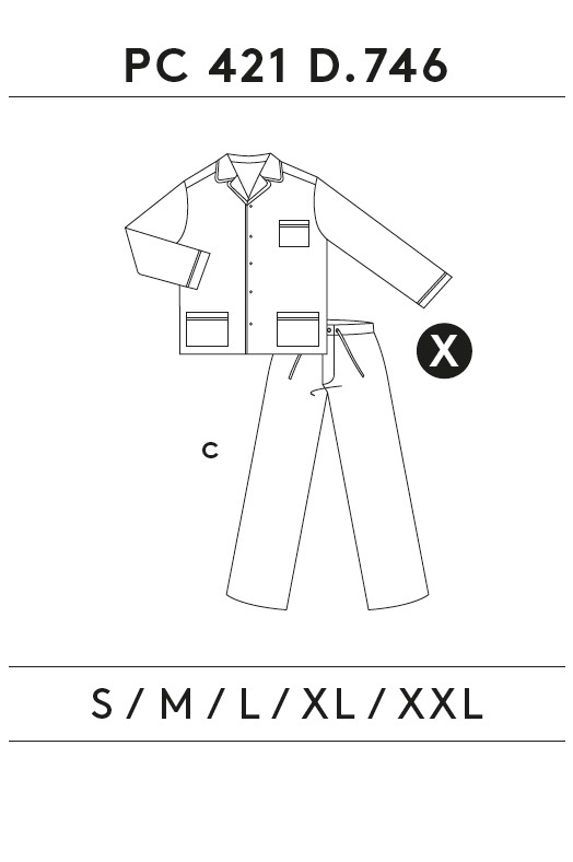 GUASCH Pánské pyžamo PABLO bordo M