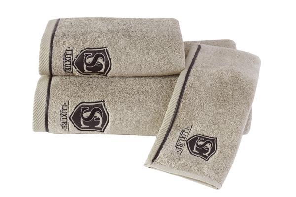 Soft Cotton Dárkové balení ručníků a osušek LUXURE v luxusním dárkovém boxu. Béžová
