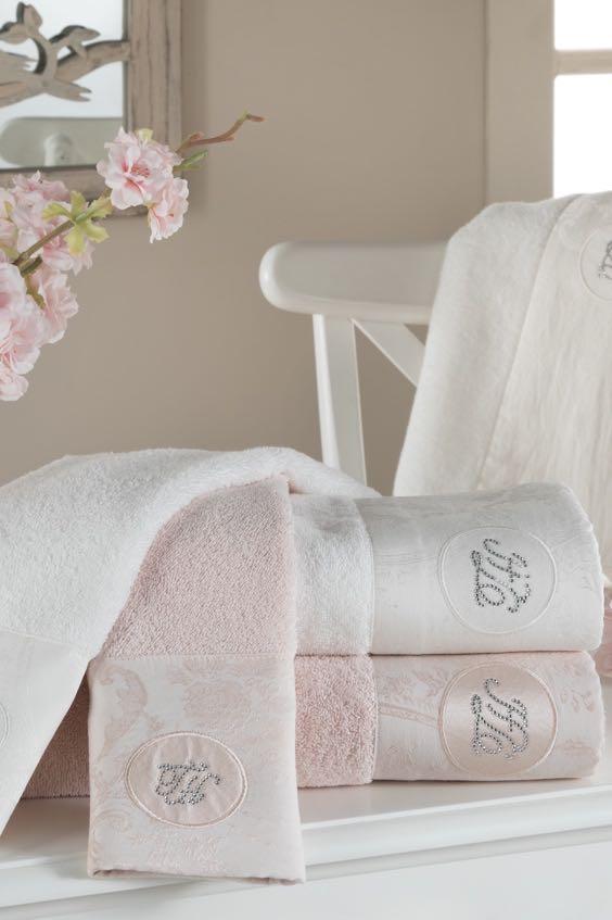 Soft Cotton Osuška a ručník GRANT v dárkovém balení Sada (30x50cm,  50x100cm,  75x150cm) starorůžová