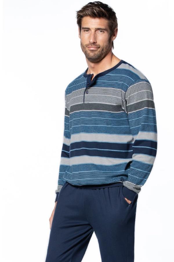 GUASCH Pánske pyžamo ELISEO S Modrá