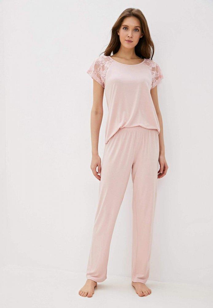 Luisa Moretti Dámské bambusové pyžamo SUSANA růžová XL