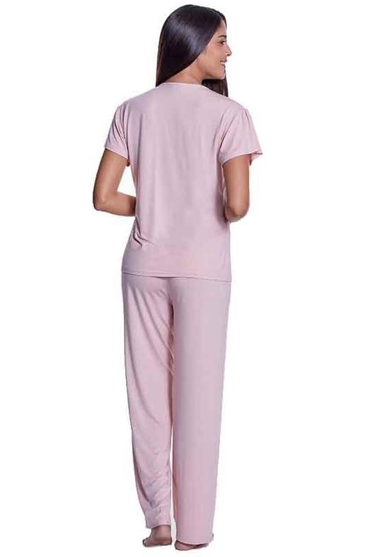 Luisa Moretti Dámské bambusové pyžamo ZOE Růžová S