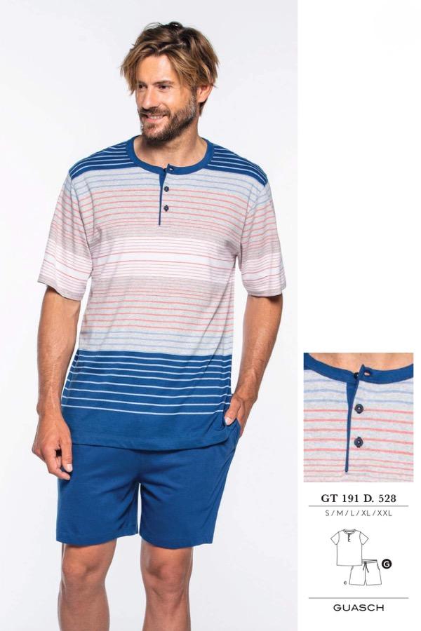 GUASCH Pánské pyžamo LUIGI modrá M