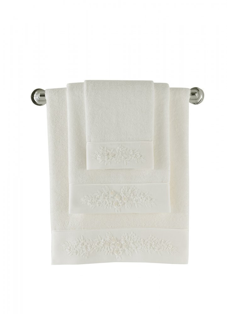 Soft Cotton Bambusový ručník MASAL 50x100 cm smetanová