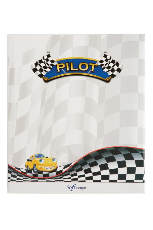 Soft Cotton Dětský župan PILOT v dárkové balení Fialová 2 roky (vel.92 cm)