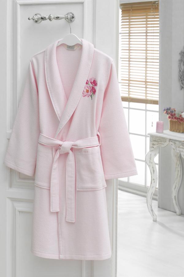 Soft Cotton Krátký dámský župan ANEMONE růžová l