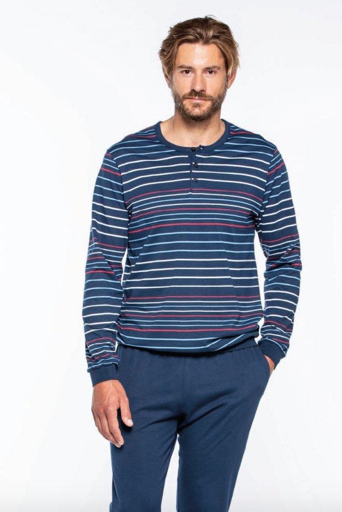 GUASCH Pánske pyžamo JORGE Modrá S