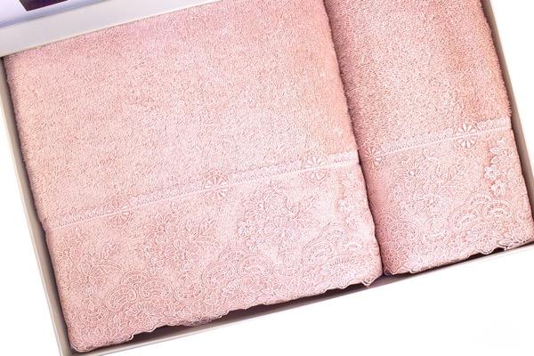 Soft Cotton Osuška a ručník DIAMOND v dárkovém balení starorůžová