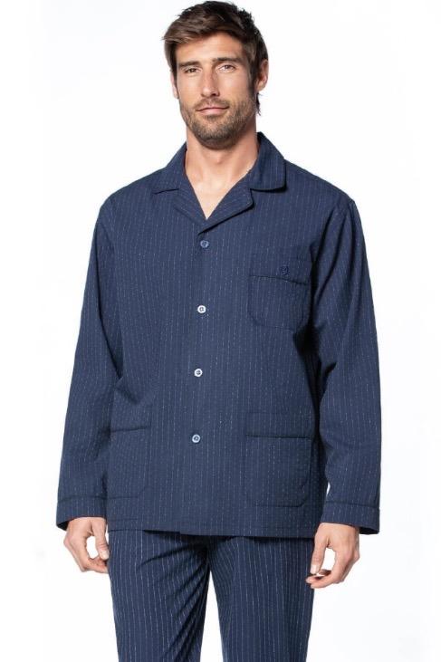 GUASCH Pánske pyžamo JOEL S Tmavo modrá