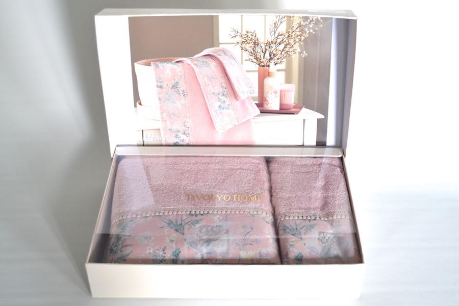 Soft Cotton Osuška a ručník HENA v dárkovém balení starorůžová