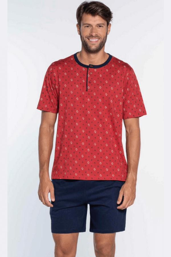 GUASCH Pánske pyžamo OSCAR Červená XXL