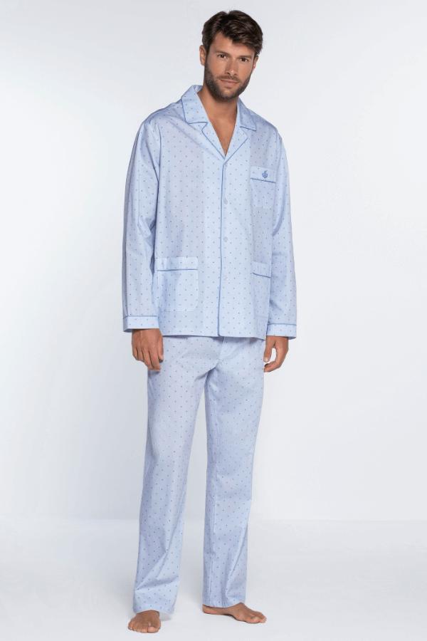 GUASCH Pánské pyžamo SERGIO Světle modrá XL