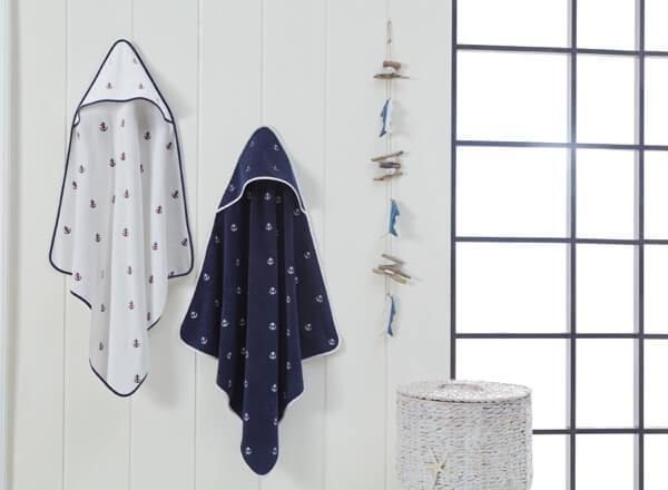 Soft Cotton Dětská osuška MARINE KIDS 80x80 cm Bílá