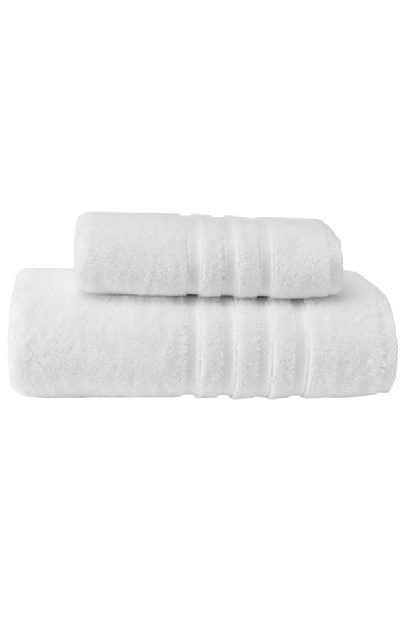 Soft Cotton Osuška BOHEME 85x150 cm. Jej rozmery sú veľkorysé, a to 150 x 85 cm, takže je vhodná nielen pre ženy, ale aj pre mužov. Po kúpeli zahalí vaše telo od hlavy až k päte. Biela
