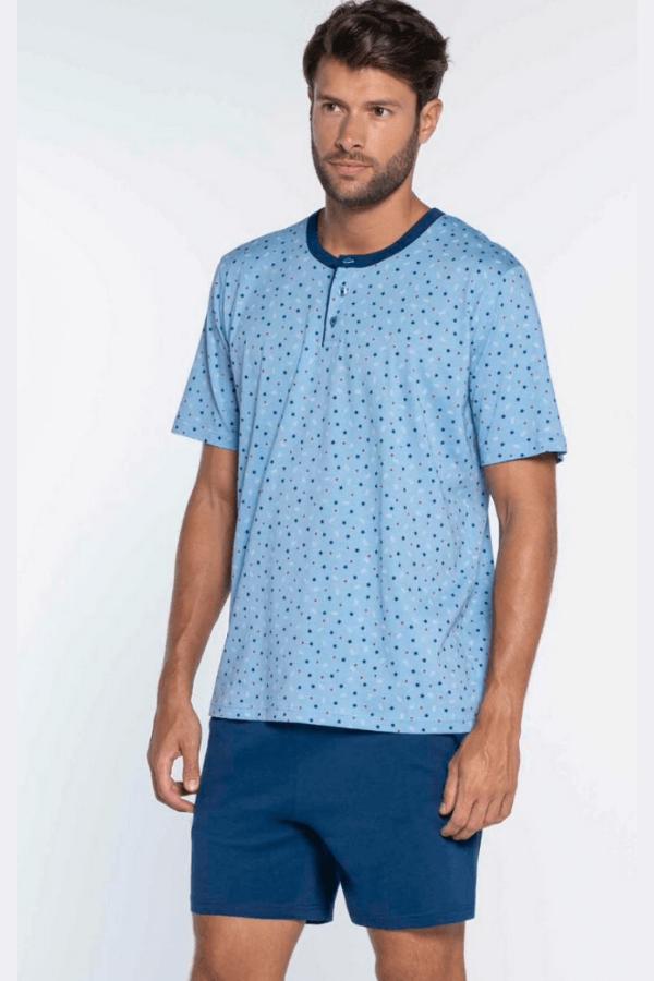 GUASCH Pánske pyžamo ROQUE Svetlo modrá XXL