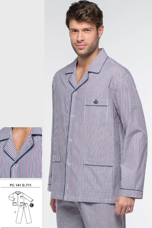 GUASCH Pánské pyžamo ALBERTO bordo S
