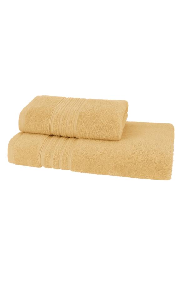 Soft Cotton Sada Ručníků ARIA 50x90 cm + 75x150 cm žlutá