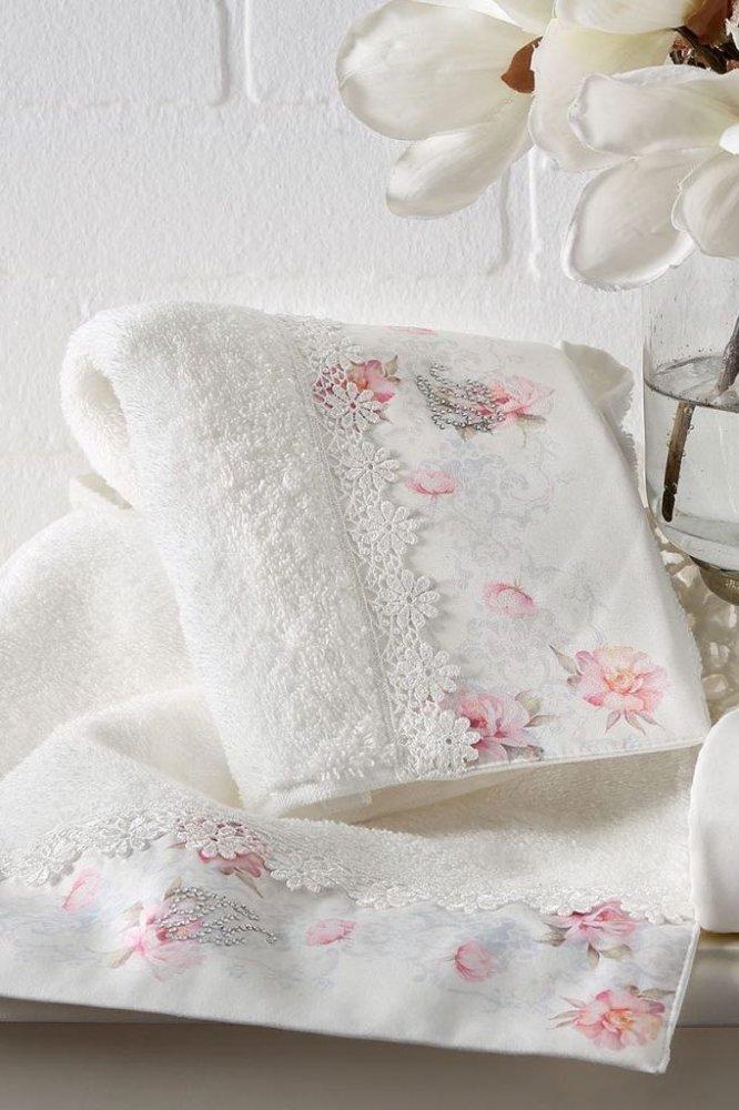 Soft Cotton Osuška a ručník VENICE v dárkovém balení + aroma spray smetanová