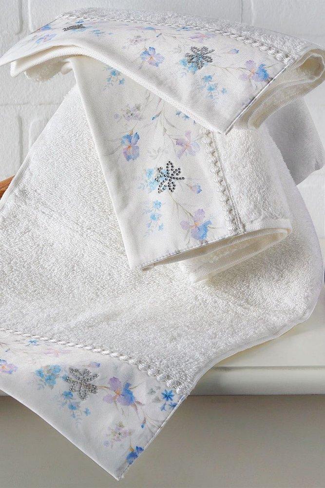 Soft Cotton Osuška a ručník IRIS v dárkovém balení Sada (30x50,  50x100,  75x150, spray) smetanová