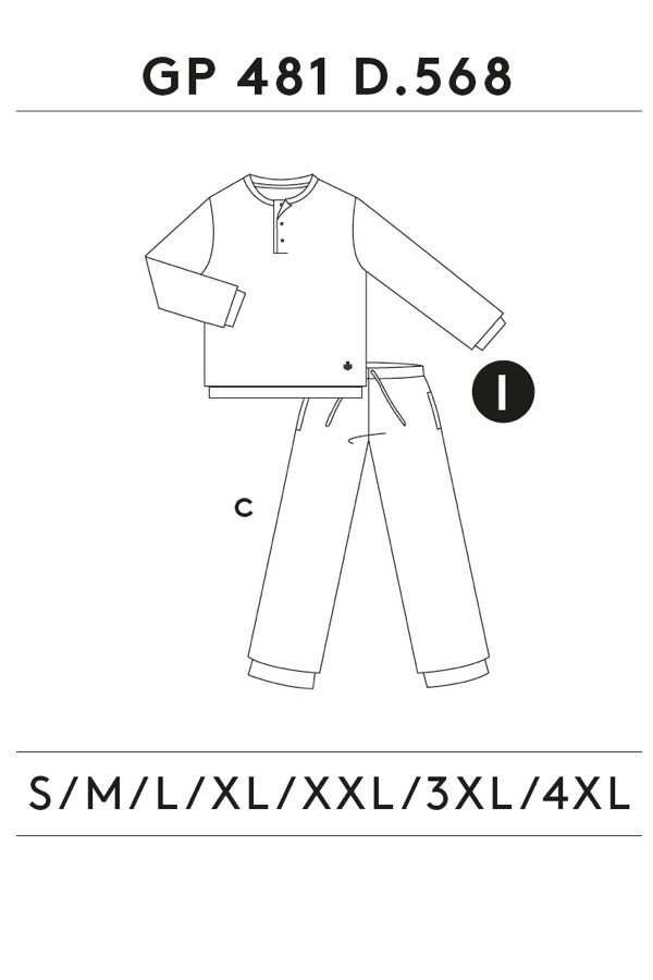 GUASCH Pánské pyžamo ELISEO modrá XXL