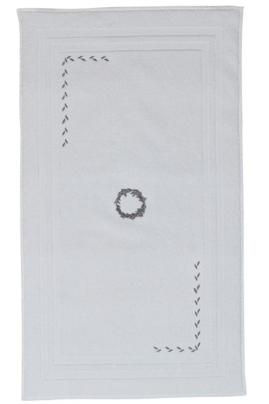 Soft Cotton Koupelnová předložka SEHZADE 50x90 cm bílá/stříbrná