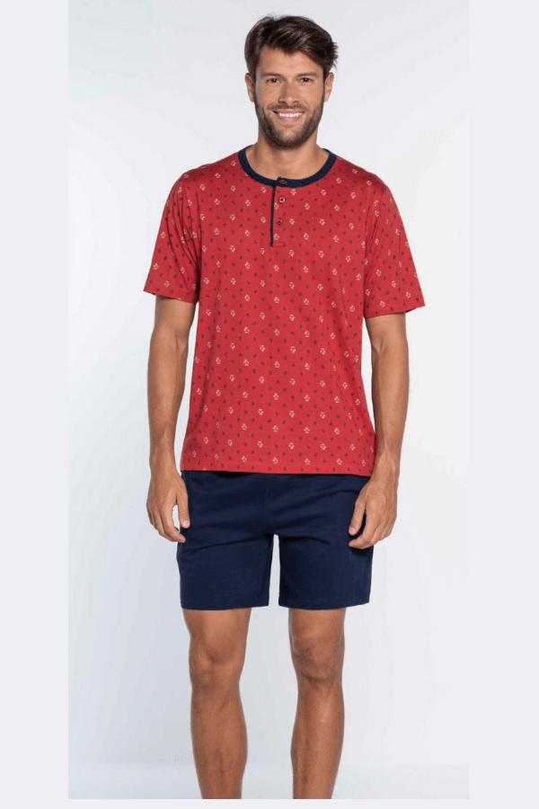 GUASCH Pánské pyžamo OSCAR Červená L